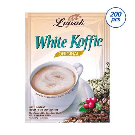 Kopi Sachet Coffe Sachet jual luwak white coffee kopi instant 1 karton 200 sachet