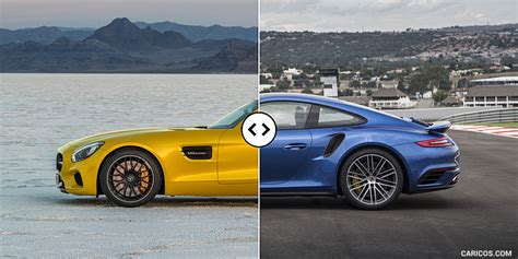 mercedes amg gt s vs porsche 911 turbo side comparison 1