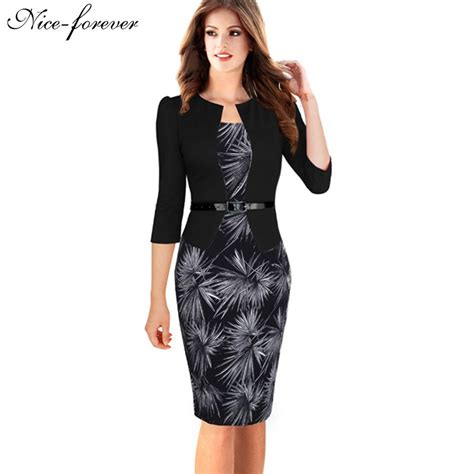 Office Dress 1 forever one faux jacket brief patterns work dress office bodycon 3 4