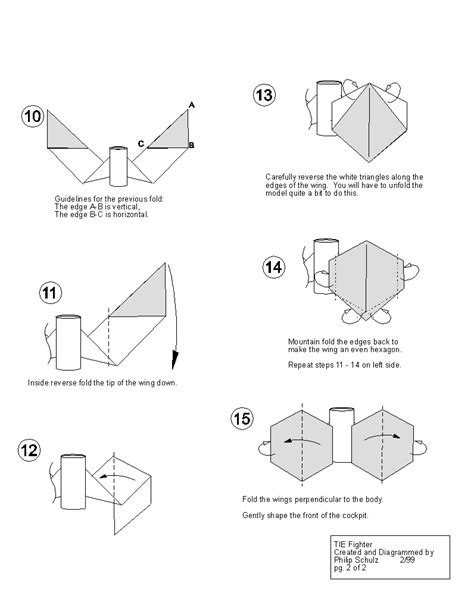 Origami Tie Fighter - wars origami