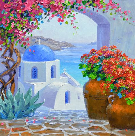 paint with a twist greece splendor of santorini mikki senkarik