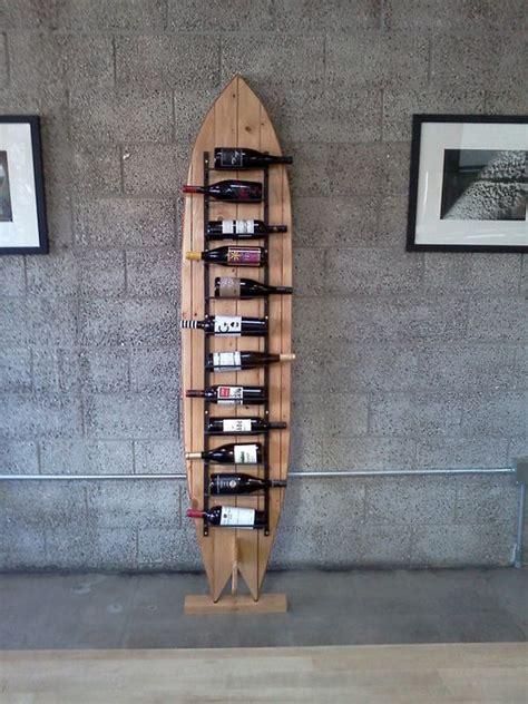 surfboard wine rack surfboard wine rack by klineworks on etsy upcycling