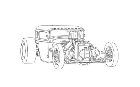Coloring Pages Rat Rods | rat rod coloring pages favorite automotive sketches
