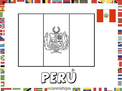 la bandera de peru para colorear bandera de per 250 dibujos de banderas para pintar