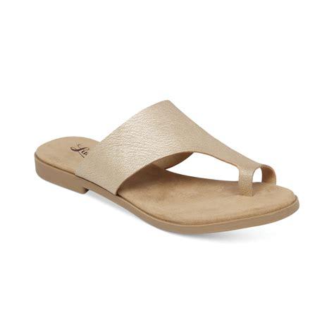 lucky brand sandals lucky brand womens astorr flat sandals in gold platinum