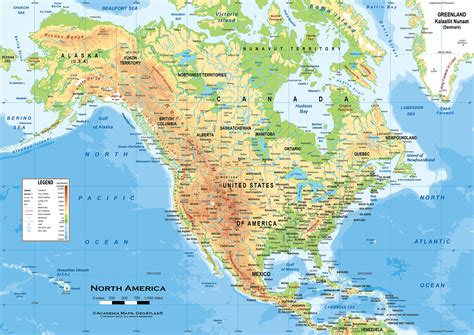 physical map of america ambitious and combative map of america