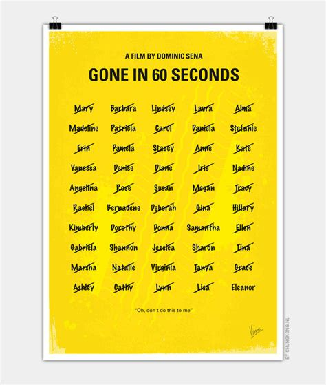 theme music gone in 60 seconds no032 my gone in 60 seconds minimal movie poster chungkong