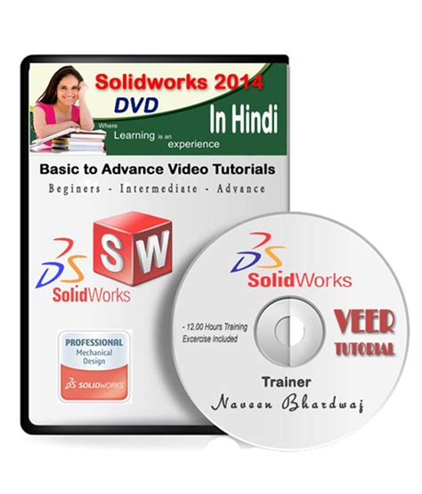 solidworks tutorial in hindi solidworks 2014 basic to advance video training dvd in