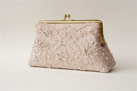 Vintage Lace Clutch From Again Nyc wedding lace silk clutch in muted lavender fall