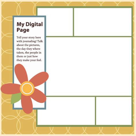 digital scrapbooking templates free free digital scrapbook layout templates www imgkid