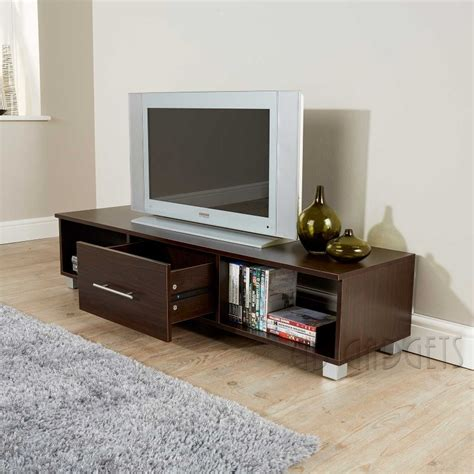 TV Unit TV Cabinet Large TV Stand Walnut Finish Living