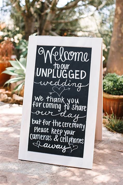 Unplugged Wedding Announcement 14 ways to announce an unplugged wedding