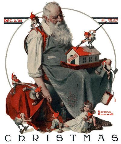 holiday l post covers file 1922 12 02 saturday evening post norman rockwell
