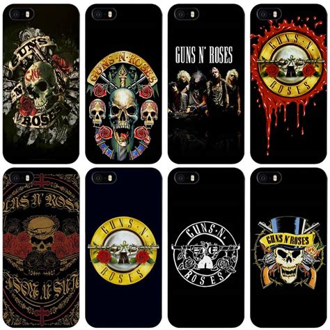 Guns N Roses Iphone Semua Hp 1 guns n roses black plastic cover shell for iphone apple 4 4s 5 5s se 5c 6 6s 7 plus in half