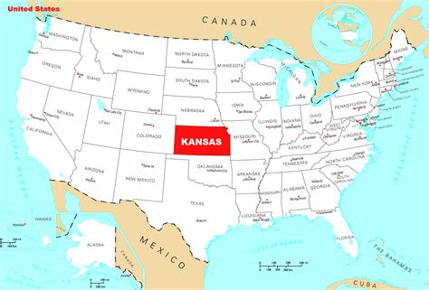 usa map ks kansas on us map gallery