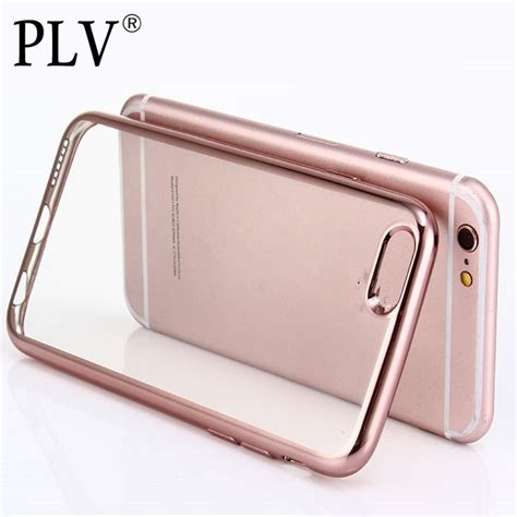 Deal Thin Clear Soft Tpu Rubber Cover Iphone 6 6s Plus Bunga buy luxury ultra thin clear rubber plating electroplating tpu soft mobile phone for
