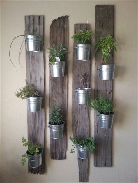 reclaimed wood herb planter hanging planter indoor herb 44 awesome indoor garden and planters ideas butterbin
