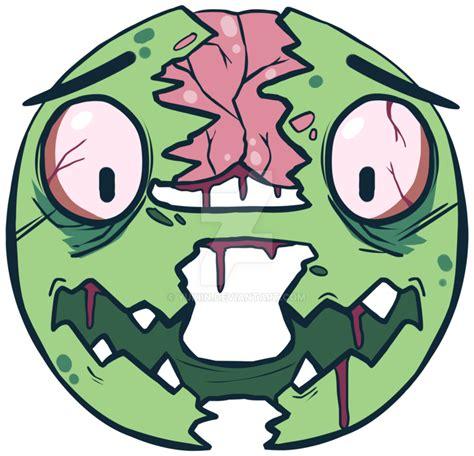 emoji zombie torn emoji zombie face by yukiin on deviantart