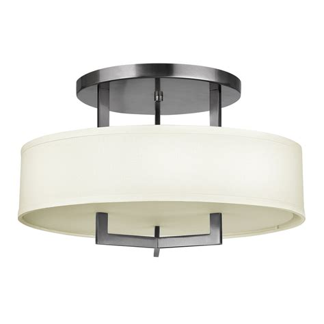 Deco Ceiling Light Deco Style Semi Flush Ceiling Light Nickel Frame With