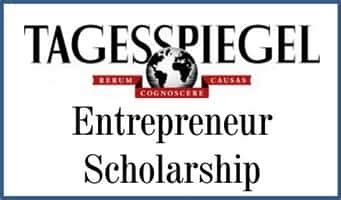 Scholarship For Mba In Germany by Tagesspiegel Entrepreneur Scholarship 2015 Study Mba In