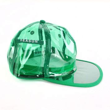 Pvc clear baseball hat from patriciafield com