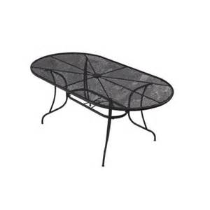 72 Inch Patio Table by Null 72 In Wrought Iron Black Oval Patio Dining Table