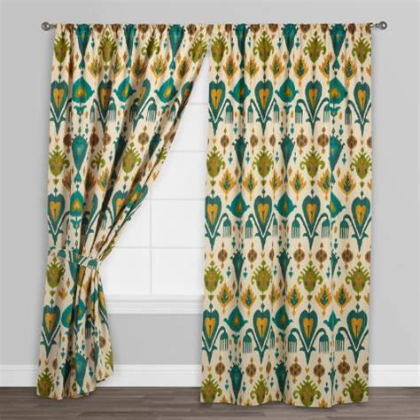 gold and teal curtains gold and teal ikat aberdeen cotton curtains set of 2