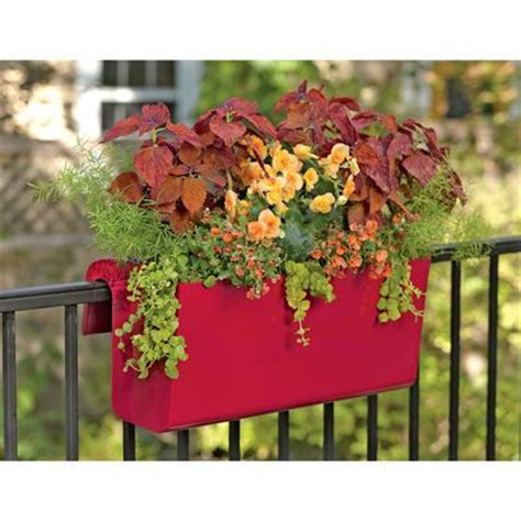 Balcony Railing Planter balcony railing planter