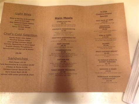 the front room menu the front room next to the coal burning fireplace picture of ye olde cheshire cheese