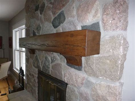 Rustic Mantel Brackets Rustic Beam Mantel And Corbels