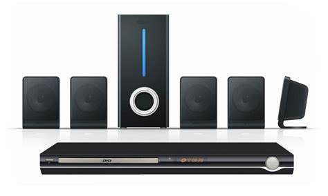 rca 5 1 channel speaker system and dvd player groupon