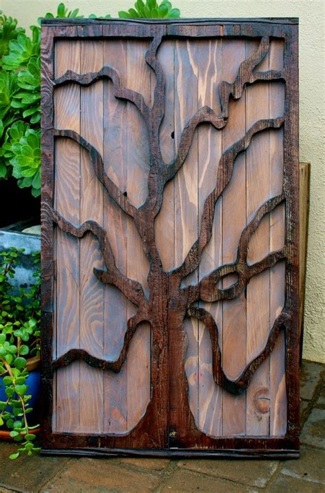 rustic wood home decor rustic home decor reclaimed wood tree wall by honeystreasures