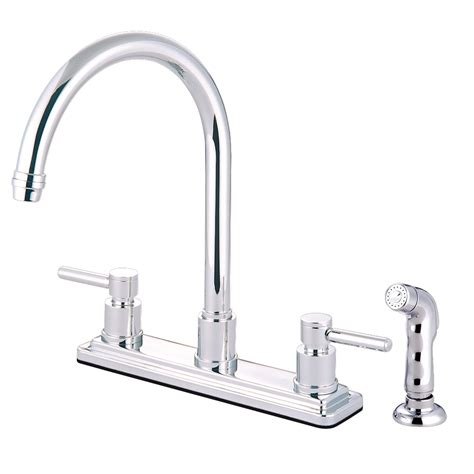 8 Kitchen Faucet Kingston Brass Ks8791dl Concord 8 Quot Centerset Kitchen Faucet With Sprayer Polished Chrome