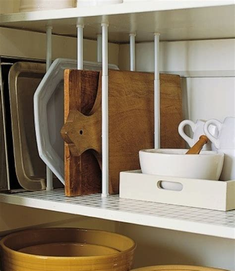 Kitchen Shelf Dividers by Diy Kitchen Storage 7 Clever Quot Hacks Quot To Try Curtain Rods Shelf Dividers And Cuttings