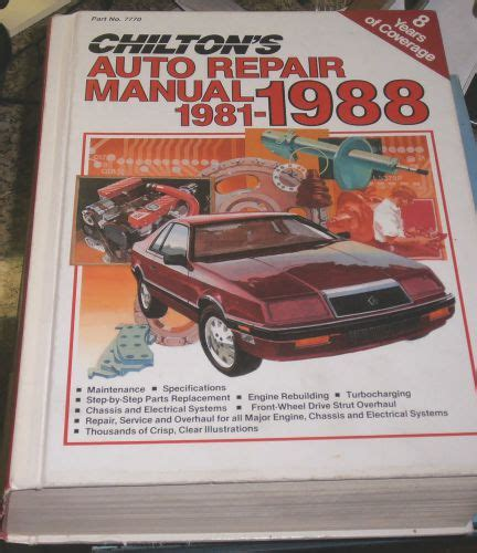 what is the best auto repair manual 1988 mercury cougar free book repair manuals find chilton s auto repair manual 1981 1988 very good condition motorcycle in rocklin
