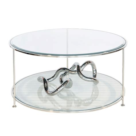 worlds away rollo nicel plated coffee table with
