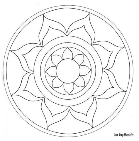 mandala coloring pages lotus lotus flower mandala mandalas pinterest