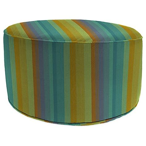 Outdoor Pouf Ottoman Outdoor Pouf Ottoman In Sunbrella 174 Astoria Bed Bath Beyond