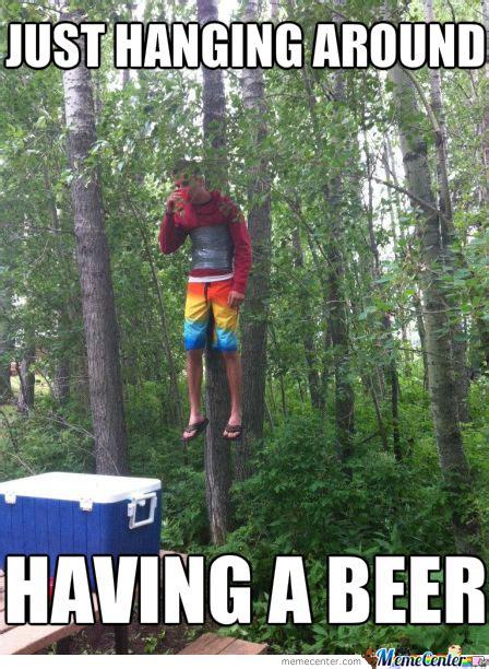 Kid Drinking Beer Meme - drinking cold beer in the woods by mynameisjason meme center