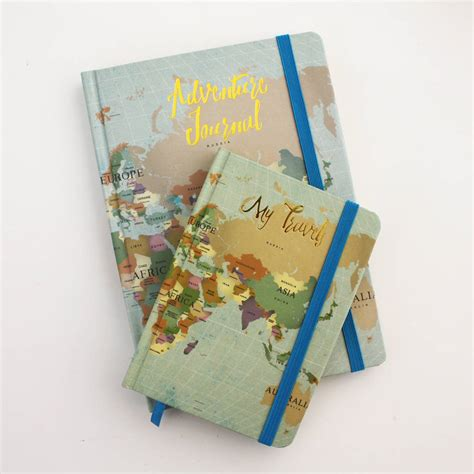 design of journal notebook map travel journal notebook by posh totty designs