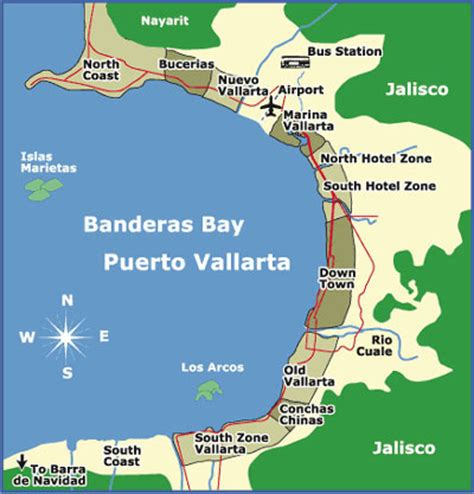 vallarta map of mexico villa palmar flamingos in nuevo vallarta mexico