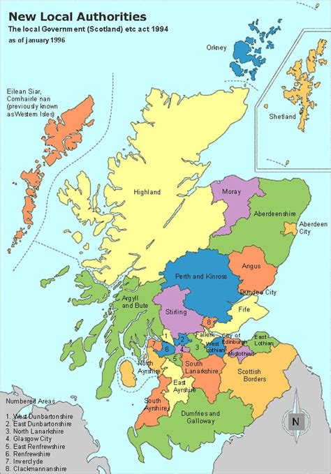 map of scotland and scotland clan map authorities map and regions and towns