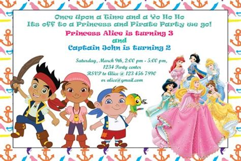 free princess and pirate invitation template free printable 90th birthday invitations dolanpedia