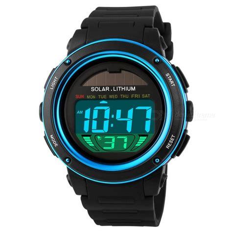 Jam Tangan Skmei 1096 Jam Tangan Solar Power Digital Black Blue skmei 1096 chrono 50m water resistant s shockproof