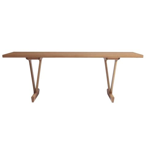 Trestle Legs For Dining Table Iv Dining Table In Solid White Oak With Trestle Legs For Sale At 1stdibs