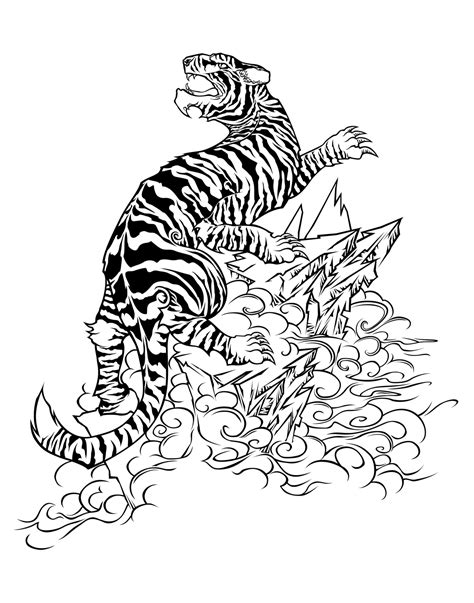 tribal tiger tattoo artistmikemiller tribal tiger designs