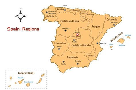 map of spain provinces spain regions map and guide