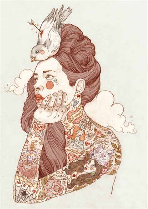 cartoon tattoo artist london ilustra 231 227 o mulheres tatuadas da liz clements mente
