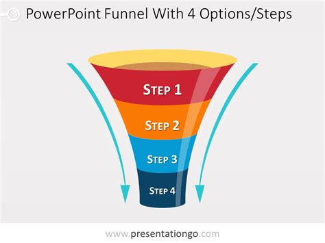 Funnel Diagram For Powerpoint With 4 Steps Funnel Chart Powerpoint