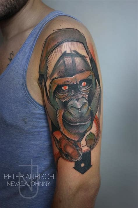 tattoo of us gorilla 17 best images about tattoo ideas on pinterest chicago